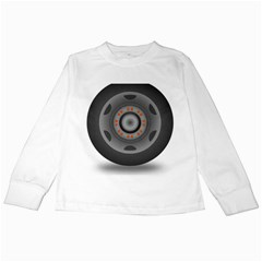 Tire Tyre Car Transport Wheel Kids Long Sleeve T-Shirts