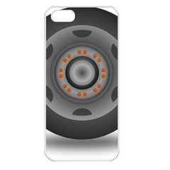 Tire Tyre Car Transport Wheel Apple iPhone 5 Seamless Case (White)