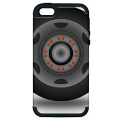 Tire Tyre Car Transport Wheel Apple iPhone 5 Hardshell Case (PC+Silicone)