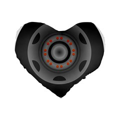 Tire Tyre Car Transport Wheel Standard 16  Premium Heart Shape Cushions