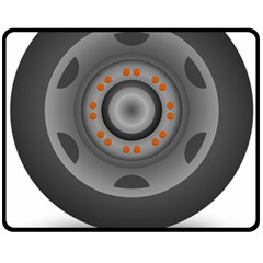 Tire Tyre Car Transport Wheel Double Sided Fleece Blanket (Medium)