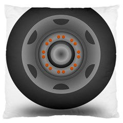 Tire Tyre Car Transport Wheel Large Flano Cushion Case (Two Sides)