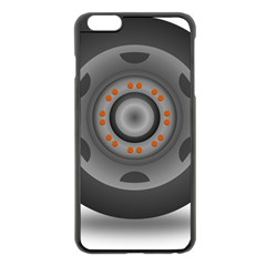 Tire Tyre Car Transport Wheel Apple iPhone 6 Plus/6S Plus Black Enamel Case