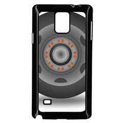 Tire Tyre Car Transport Wheel Samsung Galaxy Note 4 Case (Black)