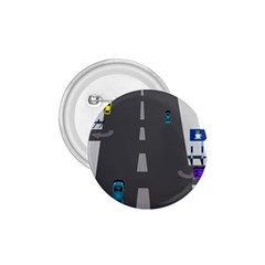 Traffic Road Driving Cars Highway 1.75  Buttons