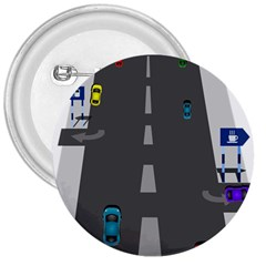 Traffic Road Driving Cars Highway 3  Buttons