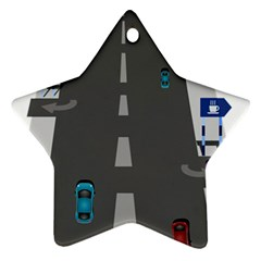 Traffic Road Driving Cars Highway Ornament (Star)
