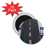 Traffic Road Driving Cars Highway 1.75  Magnets (10 pack)