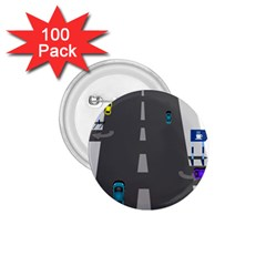 Traffic Road Driving Cars Highway 1.75  Buttons (100 pack)