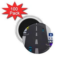 Traffic Road Driving Cars Highway 1.75  Magnets (100 pack)