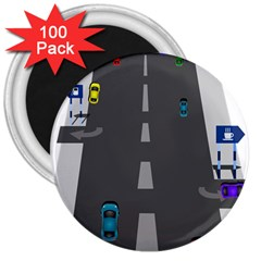 Traffic Road Driving Cars Highway 3  Magnets (100 pack)