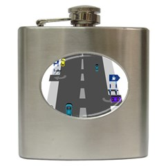 Traffic Road Driving Cars Highway Hip Flask (6 oz)