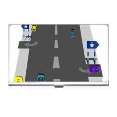 Traffic Road Driving Cars Highway Business Card Holders