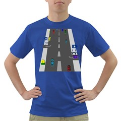 Traffic Road Driving Cars Highway Dark T-Shirt