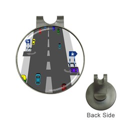 Traffic Road Driving Cars Highway Hat Clips with Golf Markers