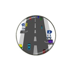 Traffic Road Driving Cars Highway Hat Clip Ball Marker