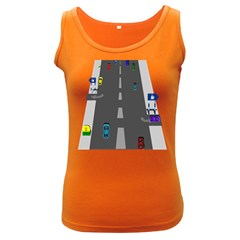 Traffic Road Driving Cars Highway Women s Dark Tank Top
