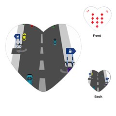 Traffic Road Driving Cars Highway Playing Cards (Heart)