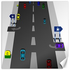 Traffic Road Driving Cars Highway Canvas 12  x 12