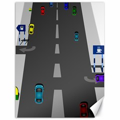 Traffic Road Driving Cars Highway Canvas 18  x 24