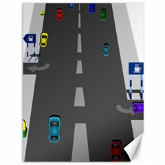 Traffic Road Driving Cars Highway Canvas 36  x 48
