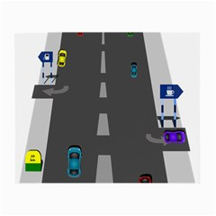Traffic Road Driving Cars Highway Small Glasses Cloth (2-Side)