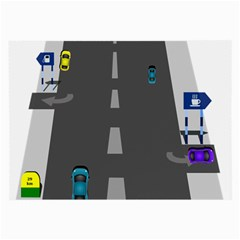 Traffic Road Driving Cars Highway Large Glasses Cloth (2-Side)