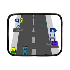 Traffic Road Driving Cars Highway Netbook Case (Small)