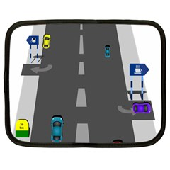 Traffic Road Driving Cars Highway Netbook Case (Large)