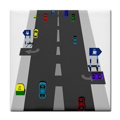 Traffic Road Driving Cars Highway Face Towel