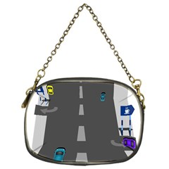 Traffic Road Driving Cars Highway Chain Purses (One Side)