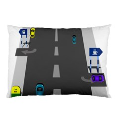 Traffic Road Driving Cars Highway Pillow Case