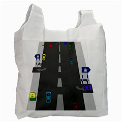 Traffic Road Driving Cars Highway Recycle Bag (Two Side)