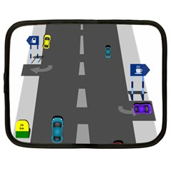 Traffic Road Driving Cars Highway Netbook Case (XL)