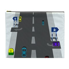 Traffic Road Driving Cars Highway Cosmetic Bag (XL)
