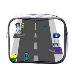 Traffic Road Driving Cars Highway Mini Toiletries Bags