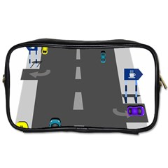 Traffic Road Driving Cars Highway Toiletries Bags 2-Side