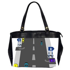 Traffic Road Driving Cars Highway Office Handbags (2 Sides)