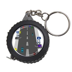 Traffic Road Driving Cars Highway Measuring Tapes