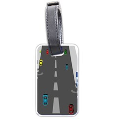 Traffic Road Driving Cars Highway Luggage Tags (Two Sides)