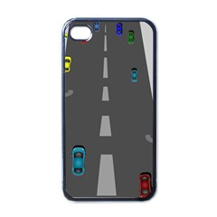 Traffic Road Driving Cars Highway Apple iPhone 4 Case (Black)