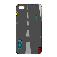 Traffic Road Driving Cars Highway Apple iPhone 4/4s Seamless Case (Black)