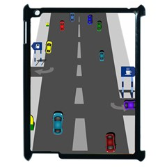 Traffic Road Driving Cars Highway Apple iPad 2 Case (Black)