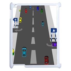 Traffic Road Driving Cars Highway Apple iPad 2 Case (White)