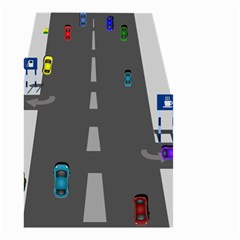 Traffic Road Driving Cars Highway Small Garden Flag (Two Sides)
