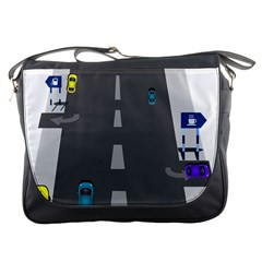 Traffic Road Driving Cars Highway Messenger Bags