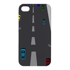 Traffic Road Driving Cars Highway Apple iPhone 4/4S Premium Hardshell Case