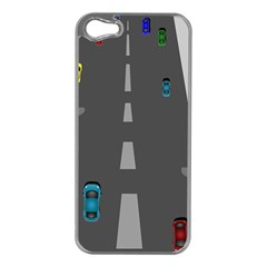 Traffic Road Driving Cars Highway Apple iPhone 5 Case (Silver)