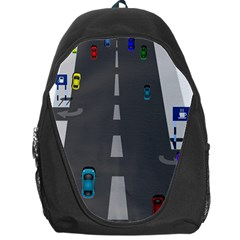 Traffic Road Driving Cars Highway Backpack Bag