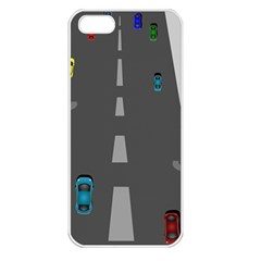 Traffic Road Driving Cars Highway Apple iPhone 5 Seamless Case (White)